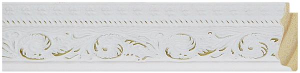 56 Branca com ouro    4,5cm